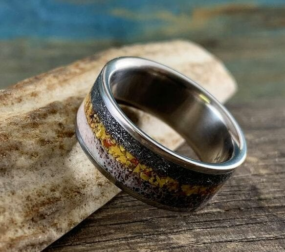 Rugged Mens Wedding Band