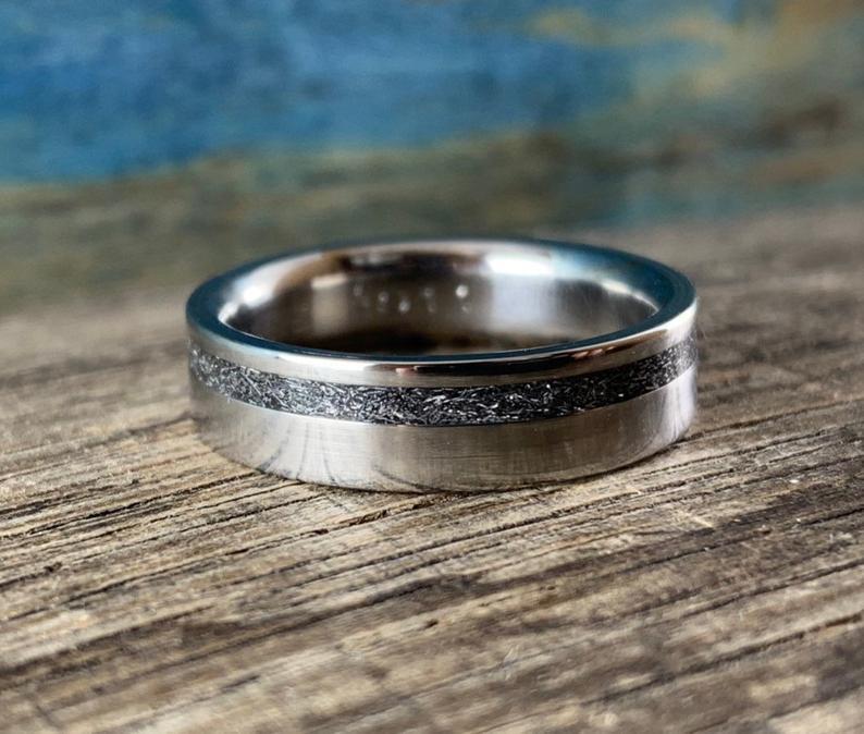 Sandblasted Meteorite ring