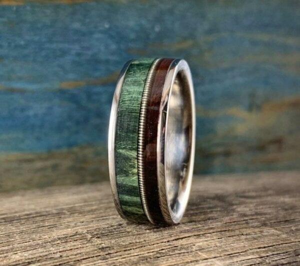 Men's Guitar String Ring