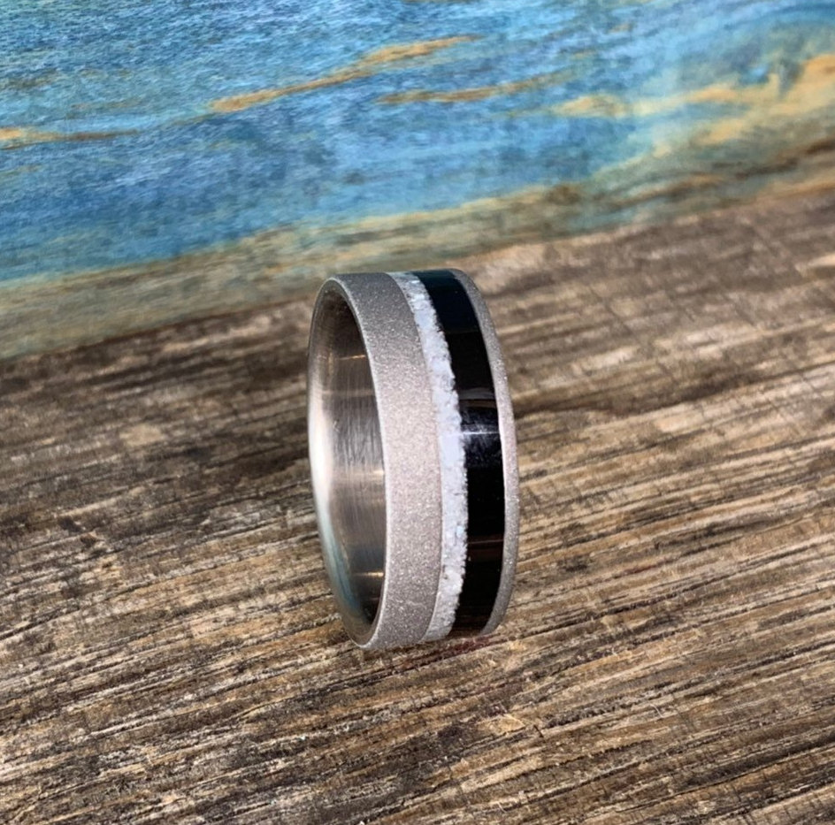 Pearl and Ebony ring for him