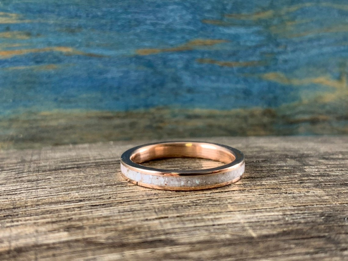 Rose gold and Pearl ring