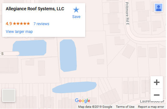 Allegiance Roofing Systems - Map