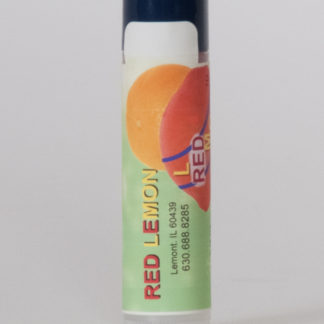 Red Lemon Lip Balm Tube. Chaptick