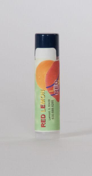 Red Lemon Lip Balm Tube. Chaptick