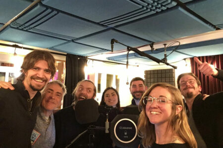 audio drama production team wraps recording