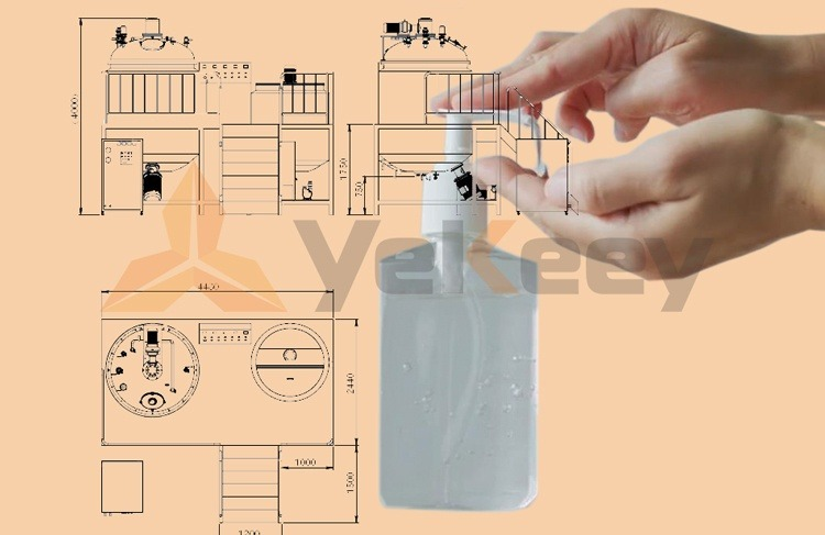 vacuum homogenizing emulsifier-gel hand sanitizer