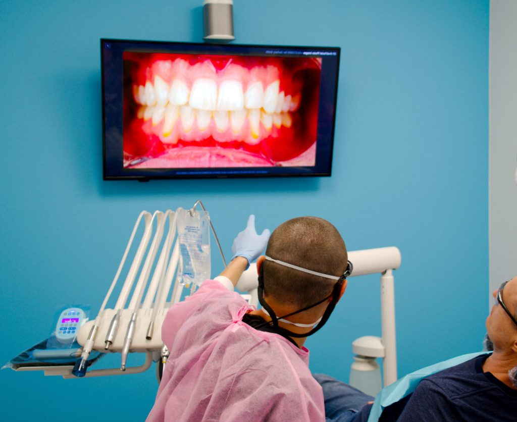 Dental Photo With Patient and Doctor, Z Dentistry