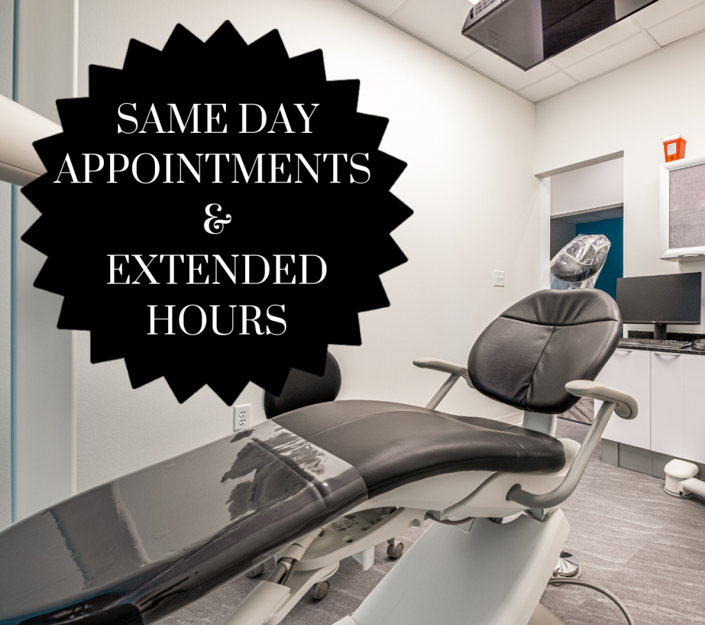 Same Day Appointments and Extended Hours, Emergency Dentistry, Z Dentistry, Northlake, TX