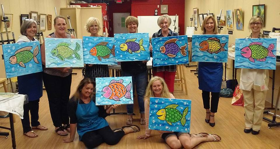 Sip & Paint Fish