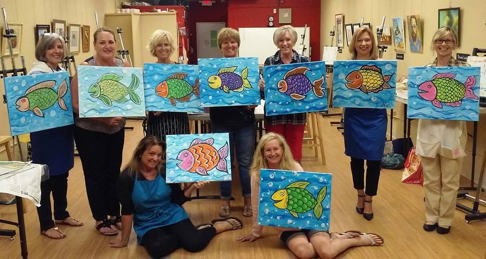 Sip & Paint Fish