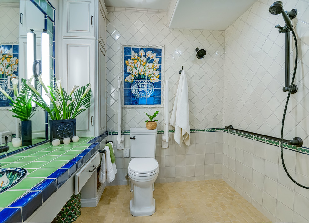 Accessible Bathroom with Pop of Color (4)