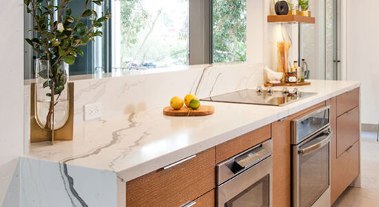 Glamour Contemporary Open Kitchen