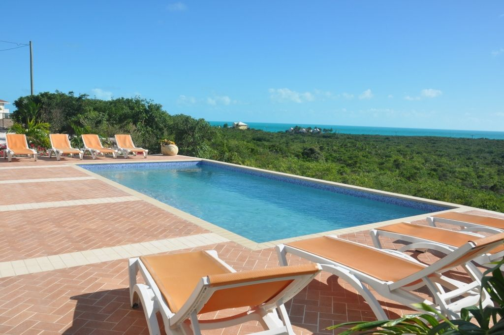 30 foot pool with spectacular views