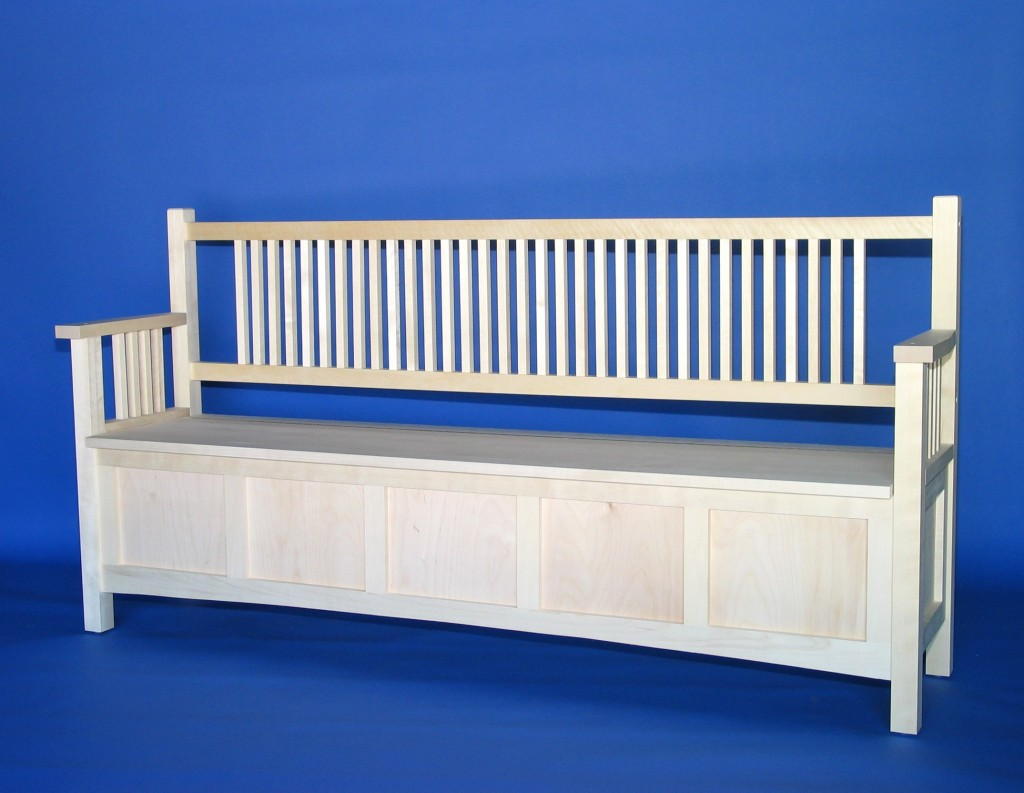 2020-80 Modified size Maple Mission Deep Storage Bench Unfinished