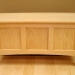 3124-36 Oak Shaker Storage Bench - unfinished Oak