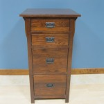 Modified Oak Mission 3 Drawer File Cabinet - Jacobean Stain 30417-3