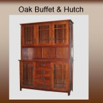 Oak Buffet & Hutch