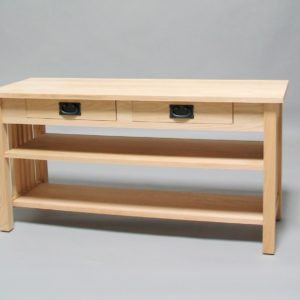 Oak Mission TV Stand with 2 drawer and shelf 30506