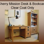 Cherry Mission Desk Bookcase
