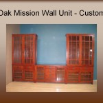Oak Mission Wall Unit - Custom