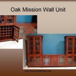 Oak Mission Wall Unit with Wine storage Cabinet 30601 Entertainment 30503-30