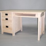 20416-KL Maple Mission Single Pedastal Desk Pull out Tray Unfinished