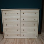 22210-D Maple Contemporary 10 Deep Drawer Dresser - Unfinished