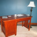 416 Series Desk with finished back