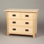 30203-S Oak Mission 3 Split Drawer Chest - Unfinished