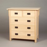 30204-S Oak Mission 4 Split Drawer Chest - Unfinished