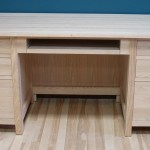 30432-K Oak Mission Double Pedestal Desk Pull Out Tray - Unfinished