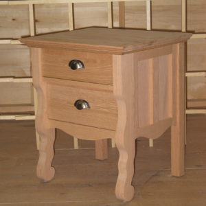 34202 Red Oak Vineyard 2 Drawer Nighstand - special handle Unfinished