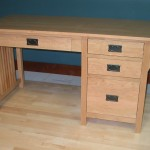40416-R Cherry Mission Single Pedestal Desk Right Stack - Clear Coat Only