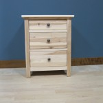 Hickory Homstead 3 Drawer Nightstand - 63202Unfinished