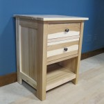 Hickory Modified Homestead 3 Drawer Nightstand - Clear Coat 63202