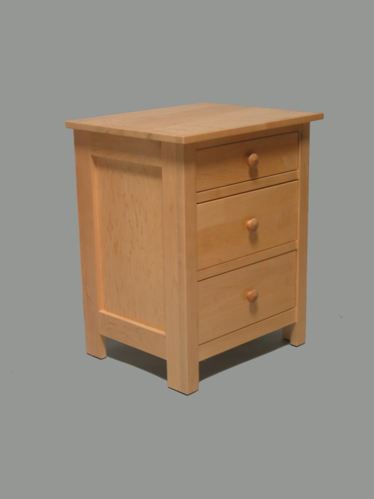 Maple Homestead 3 Drawer Nightstand Natural Stain color 23203Maple Homestead 3 Drawer Nightstand Natural Stain color 23203