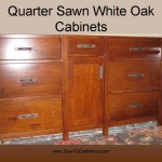Quarter Sawn White Oak Cabinets - Early American Stain