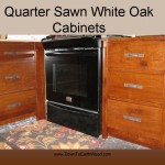 Quarter Sawn White Oak Cabinets - Early American Stain - 2
