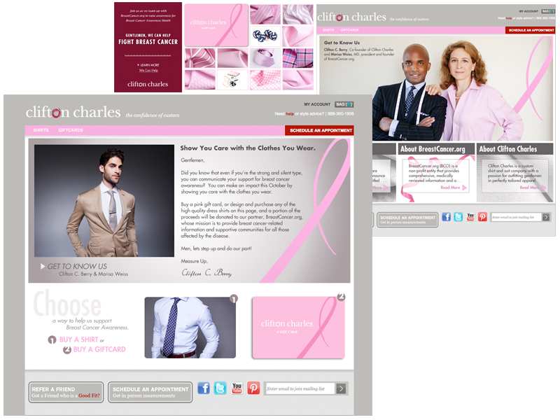 Clifton Charles Breast Cancer Awareness Campaign