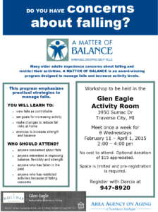 "FW: Glen Eagle hosting ""A Matter of Blance"""