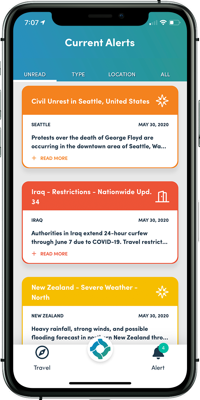 Stay informed in near real-time