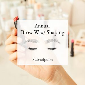 ANNUAL BROW WAX SUBSCRIPTION (12 Waxes)