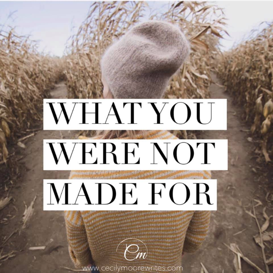What You Were Not Made For