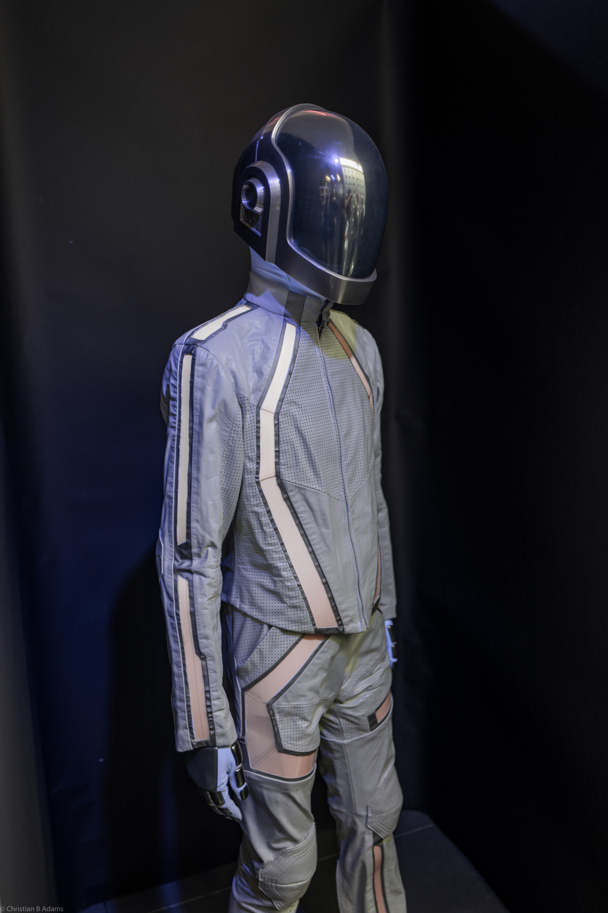 Guy-Manuel de Homem-Christo's Tron: Legacy cameo robot costume at the Daft Punk Pop Up at Maxfield Gallery Los Angeles in February of 2017.