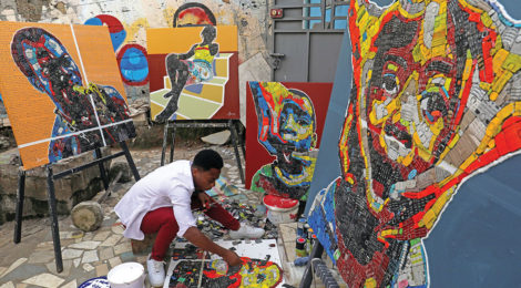 Ivoirian Painter Gives New Life to Electronic Waste