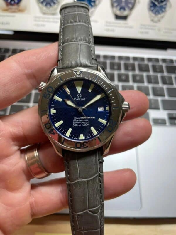 Omega Seamaster Blue Dial Front