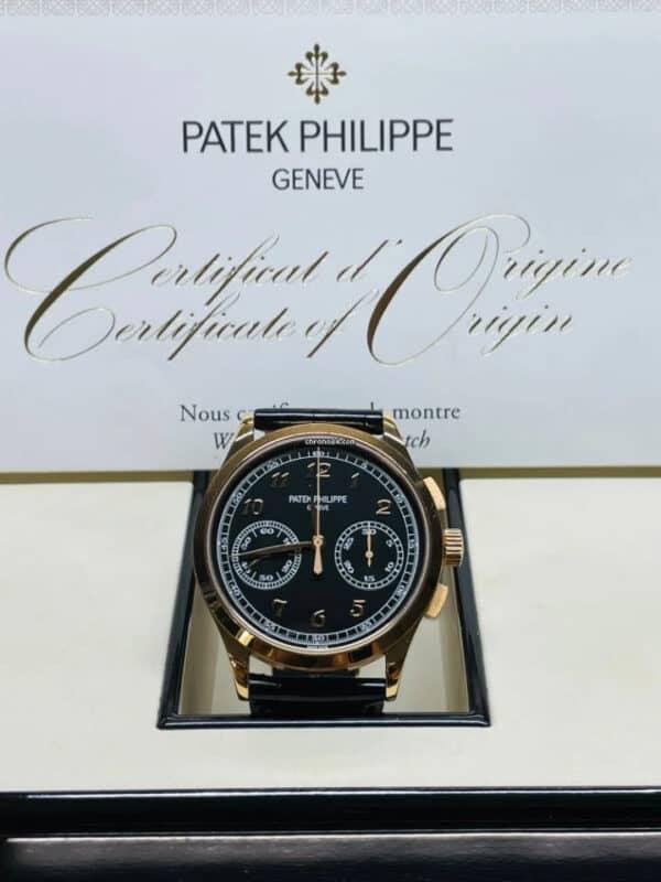 Patek Philippe 5170R-010 Rose Gold Black Dial Chronograph