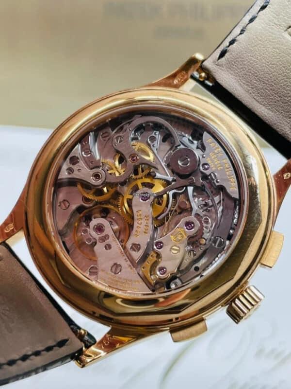 Patek Philippe 5170R-010 Rose Gold Black Dial Chronograph Back
