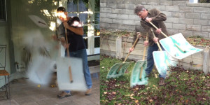 Blow, sweep, rake, and pick up - 4 tools in 1