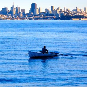 Rowing in San Francisco Bay